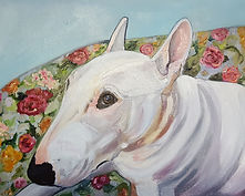Bull Terrier Memorial Pet Portrait