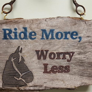 Ride More, Worry Less Sign