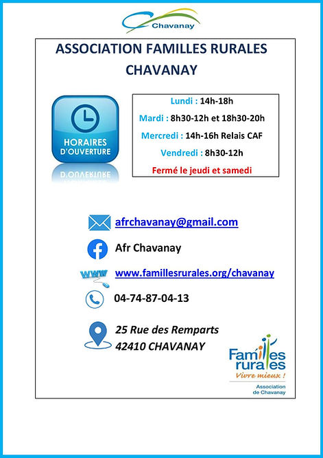 association familles rurales chavanay-pa