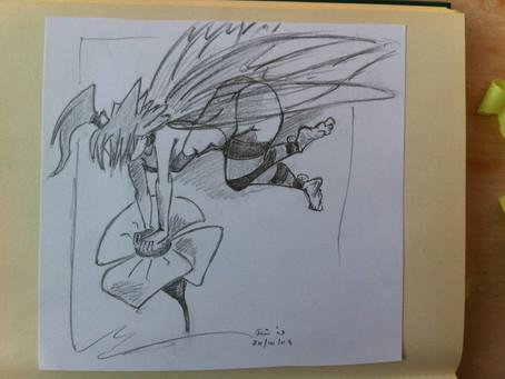 Schetsoefening naar Peter Pan van de goddelijke tekenaar Loisel