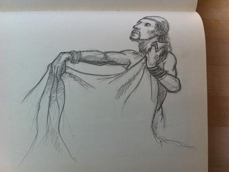 Schetsoefening naar een tekening van Jan Bosschaert ...