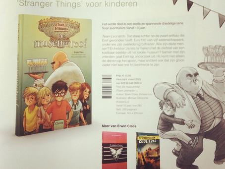 De Museumroof staat in de brochure van de uitgeverij!