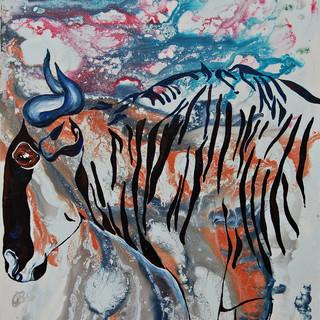 Wildebeest in Amboseli