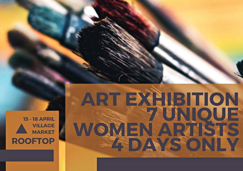 Together with six other wonderful women artists