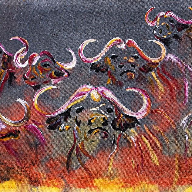 Nine Buffaloes