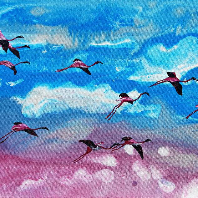 Ten Flamingoes