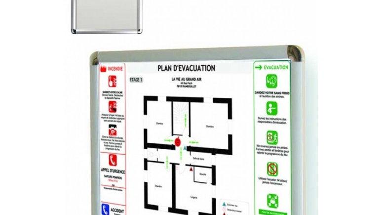 Plan d'évacuation +cadre