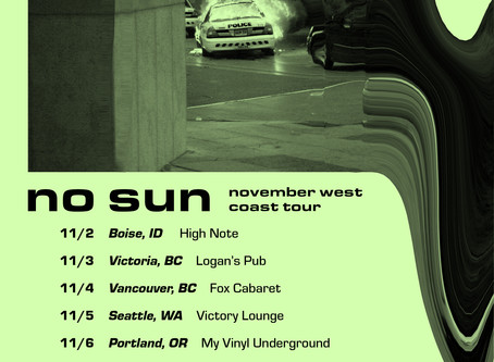 Catch No Sun On Tour This November!