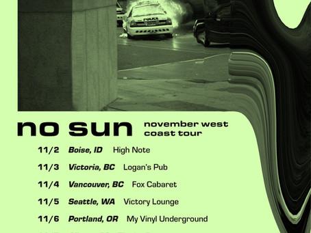 Catch No Sun On Tour This November!