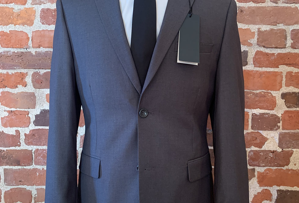 Charcoal Polyester Blend Suit