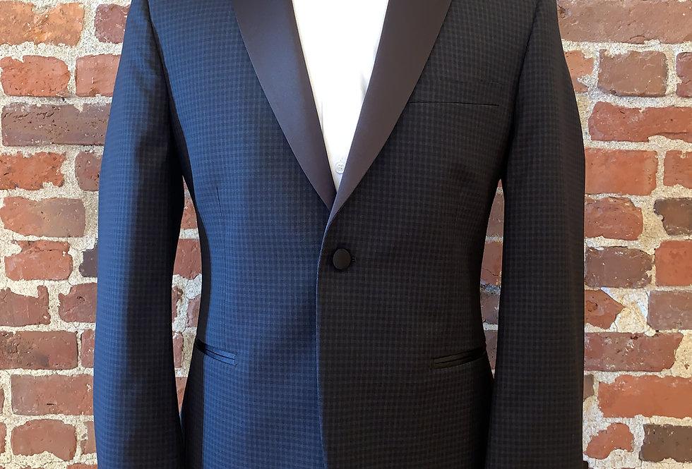 Navy Checkered Tuxedo