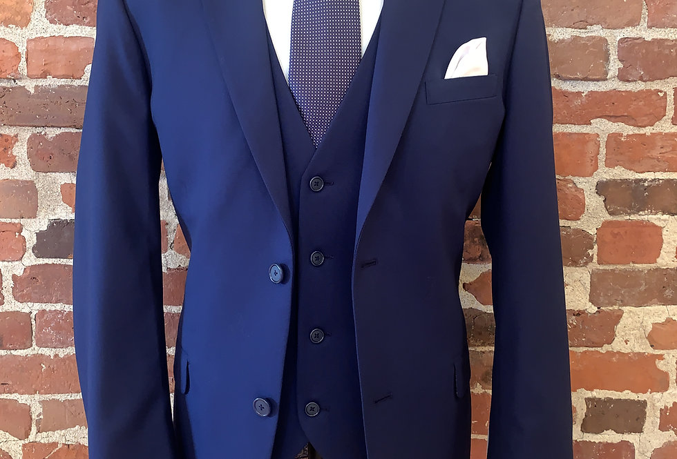 Cobalt Blue Three Piece Suit