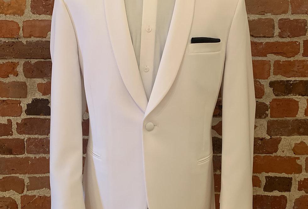 White Shawl Lapel Dinner Jacket