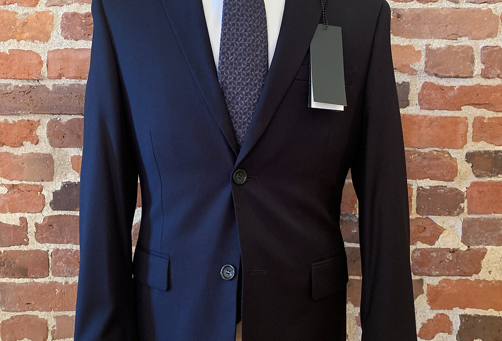 Navy Polyester Blend Suit