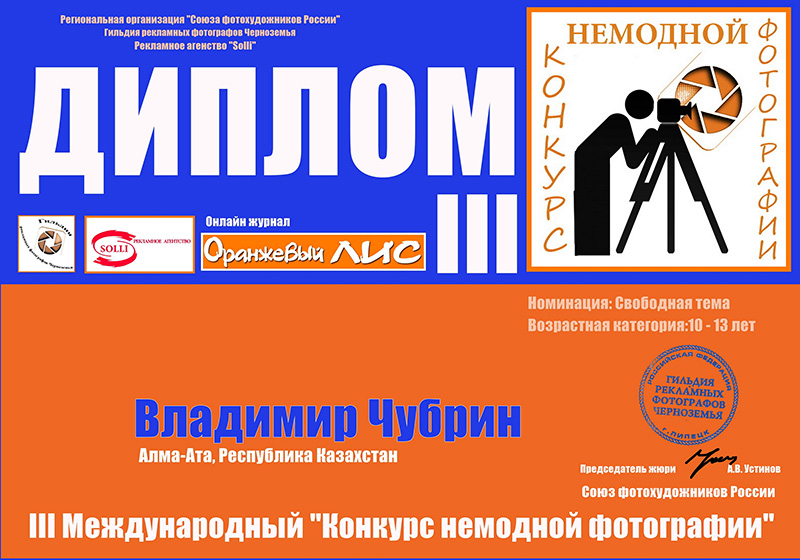 Владимир Чубрин (Свободная тема) 10-13