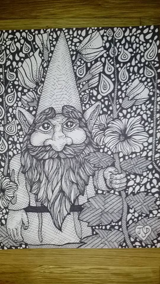 Holly Hock Gnome