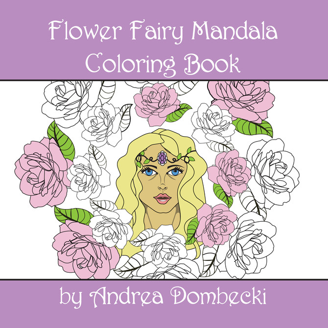 New Flower Fairy Mandala Coloring Book