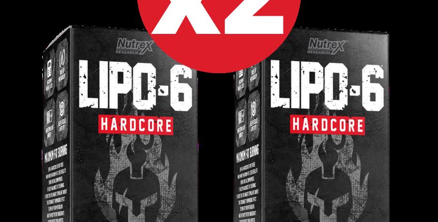 2 Piezas Warrior Series Lipo-6 Hardcore Ultra Concentate 60ct