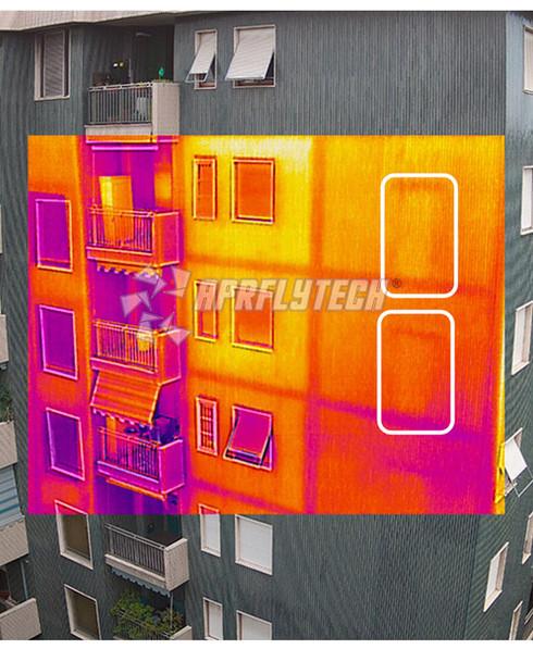 immagine termografica termica infrarossi facciata distaccamento intonaco