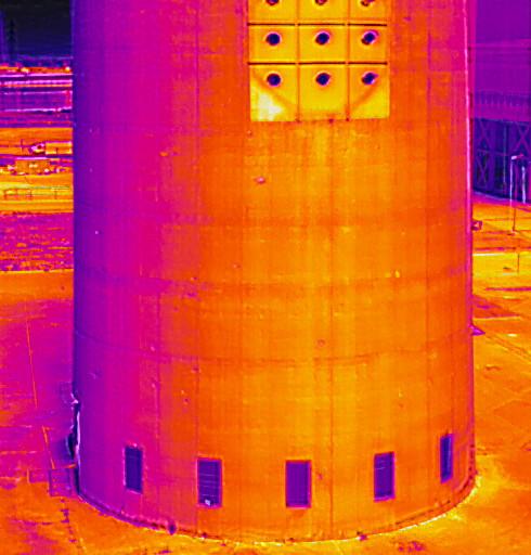 rilievo termografico struttura industriale