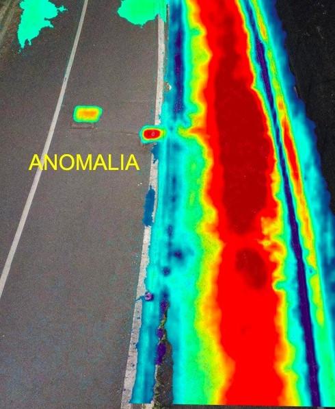 strada anomalia teleriscaldamento immagine termica radiometrica