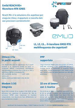 brochure volantino emlid reach rs2 aprflytech italia milano