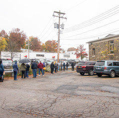 Second day voting line at Mulberry House in Middletown, NY on Monday, Oct. 26, 2020.