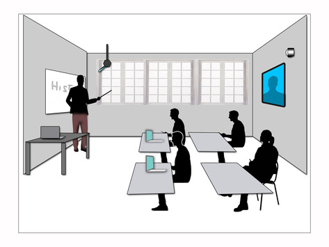 Hybrid classroom concept sparks reopening debate