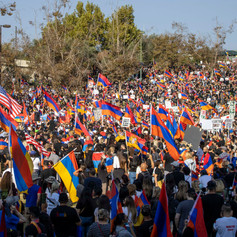 The March for Victory starts at Beverly Hills Pacific Park on Sunday, Oct. 11, 2020. More than 150,000 people protest against Azeri and Turkish aggression in Artsakh (Republic of Nagorno-Karabakh).
