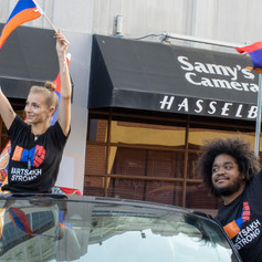 Non-Armenians support Armenian people at March for Victory in Beverly Hills, Calif., on Sunday, Oct. 11, 2020.