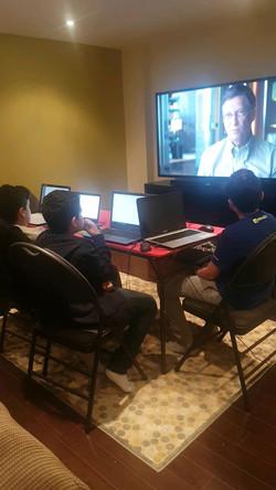 Teenagers Enjoying Coding class