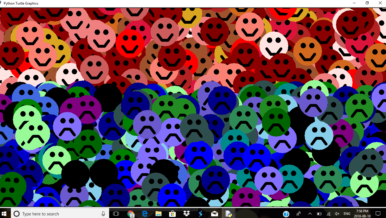 1000's of Smileys With Black