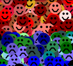 Smiley faces by kids using Coding