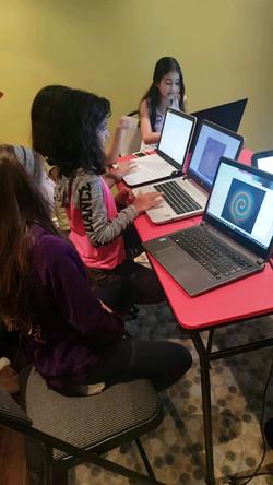 Girls Coding in Python