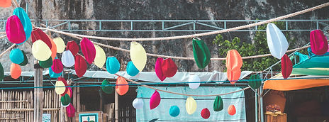 photo-of-hanging-balloon-with-tables-and