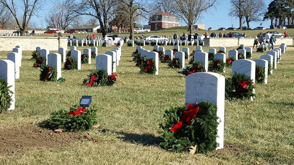 Placing of the Wreaths & Ride In at Ft. Scott National