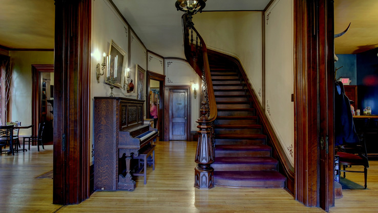 Staircase in Nate's Place (South Mansion)