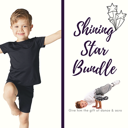 Shining Star Peewee Boys Dance & Acro Gift Package