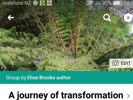 """Join our Facebook group: """"A journey of transformation"""""""