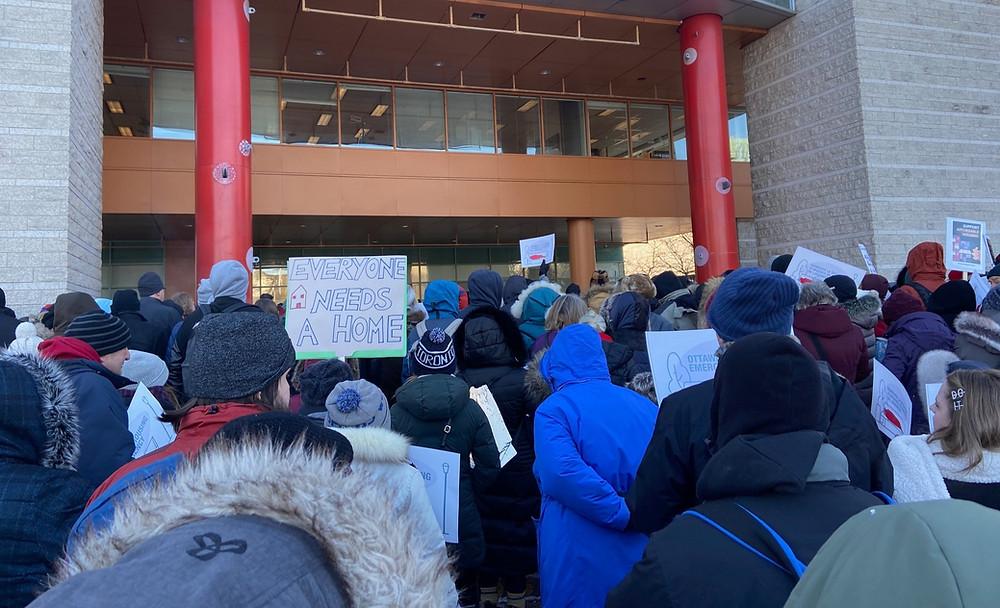 housing rally ottawa group photo