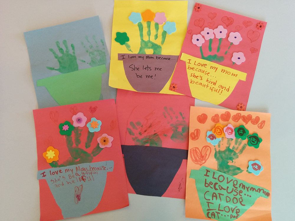 Mother's Day cards from the kids at IHO