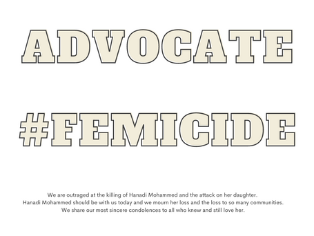 VAW Community Advocates Outraged at the predictable and preventable femicide