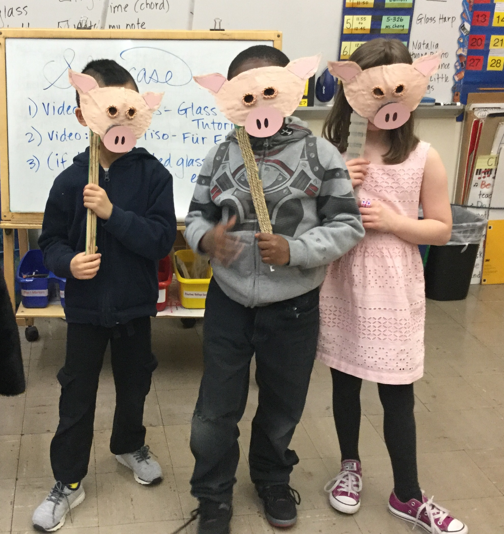 "Singing ""The Three Little Pigs"" Song"