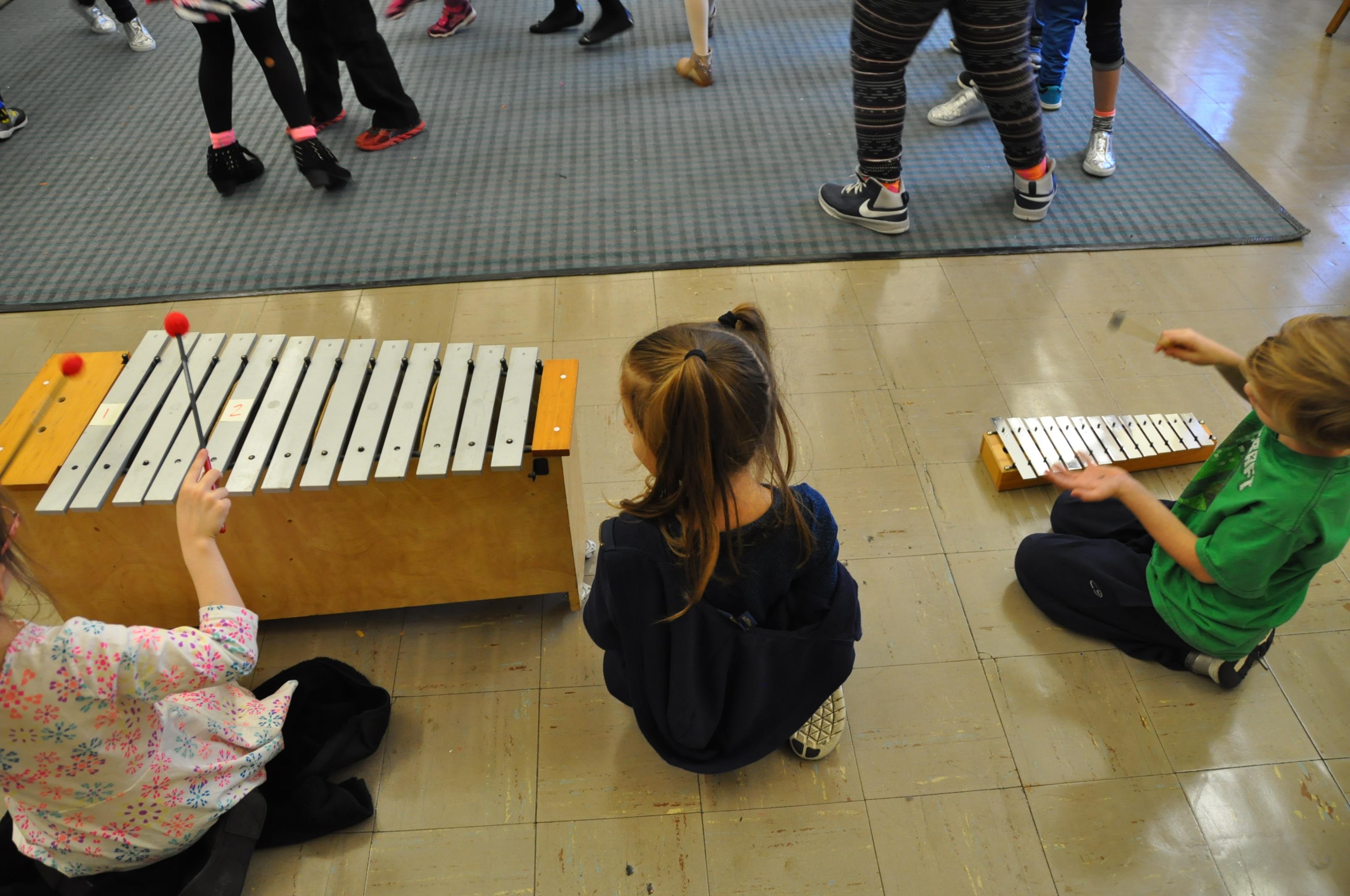 1st Graders Provide Accompaniment