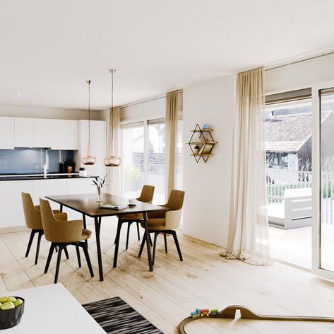 3D Visualisierung - Wohnzimmer