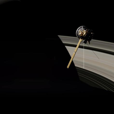 3D Animation - Sonde und Saturn