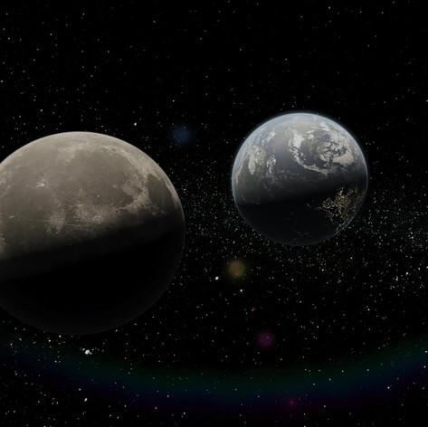 3D Animation - Erde und Mond