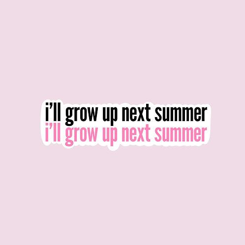 Next Summer Sticker