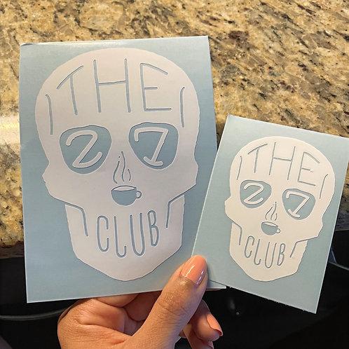 The 27 Club Vinyl Decal