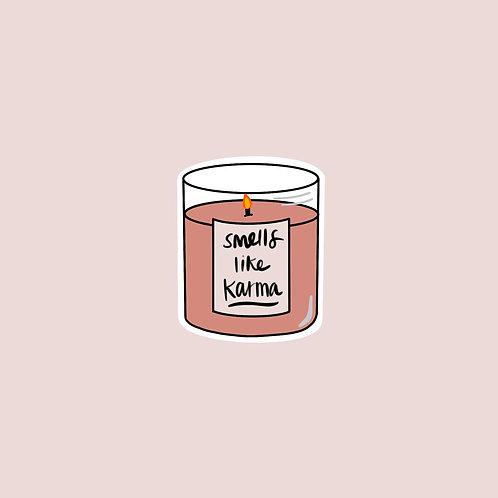 Karma Candle Sticker